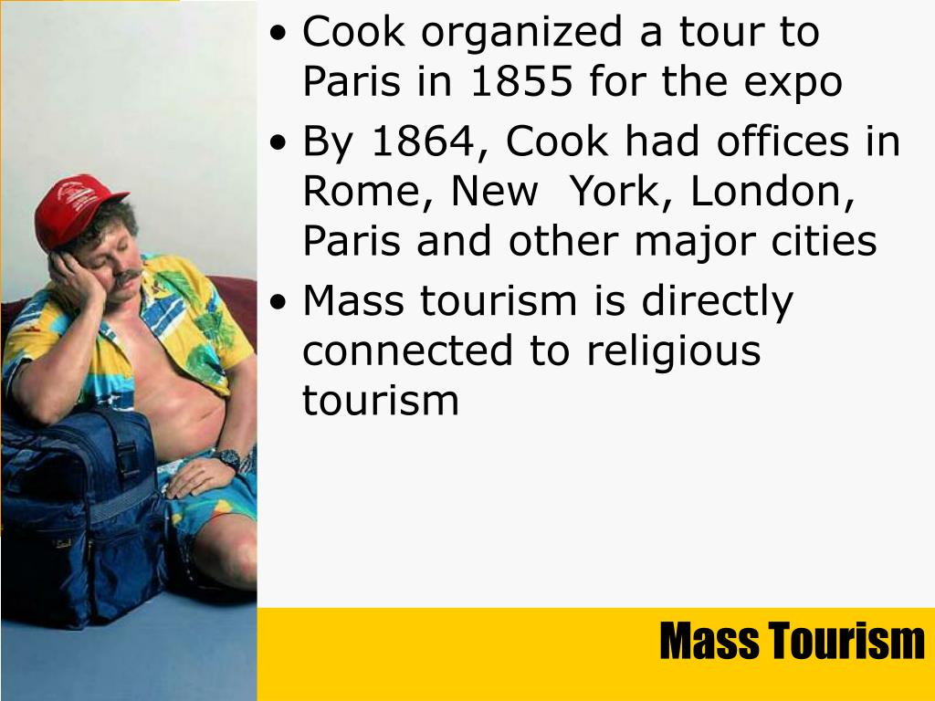 Cook organized a tour to Paris in 1855 for the expo