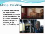 editing transitions