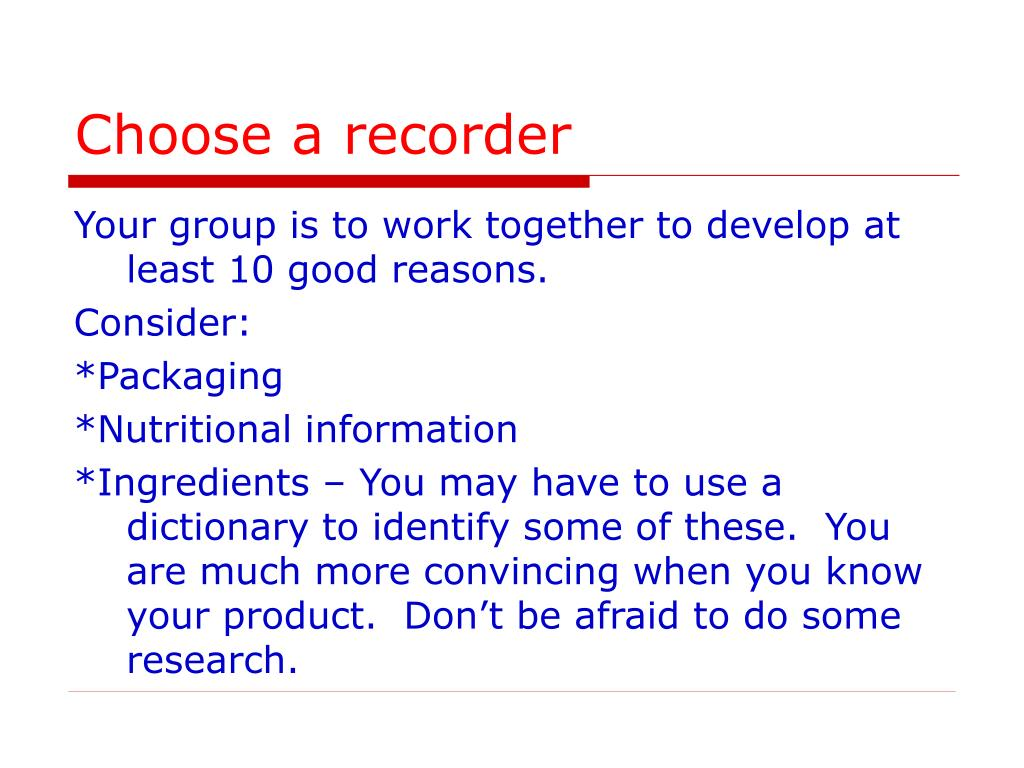 Choose a recorder