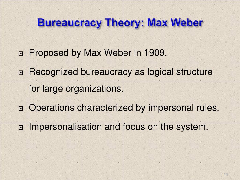 Bureaucracy Theory: Max Weber
