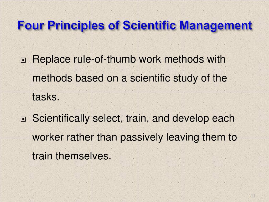 Four Principles of Scientific Management