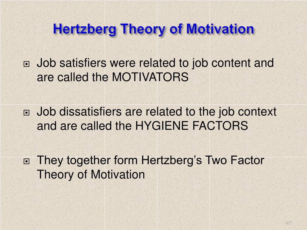 Hertzberg Theory of Motivation