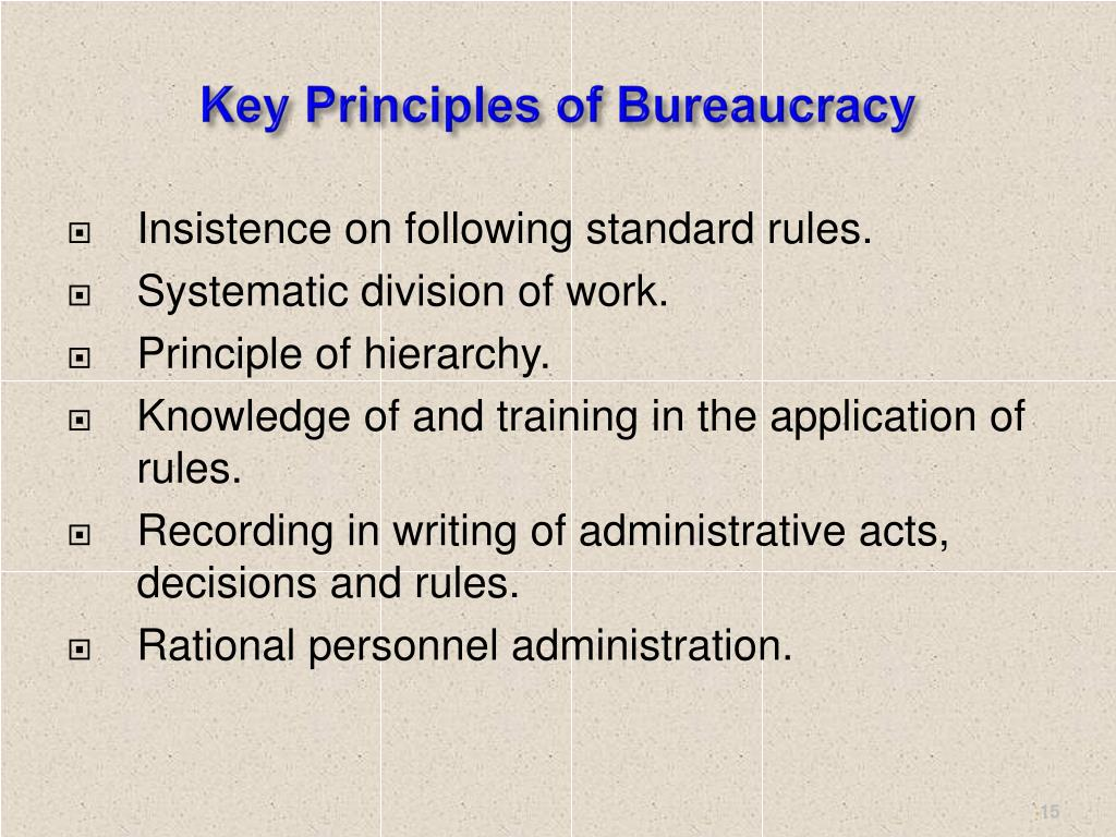 Key Principles of Bureaucracy