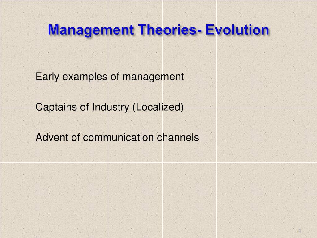 Management Theories- Evolution