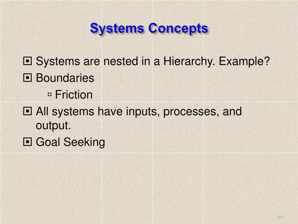Systems Concepts