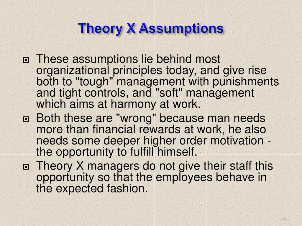 Theory X Assumptions