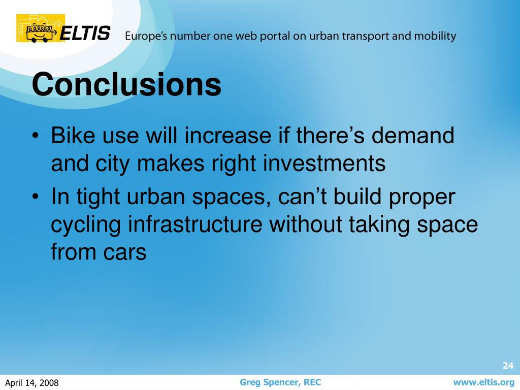 Bike use will increase if there's demand and city makes right investments