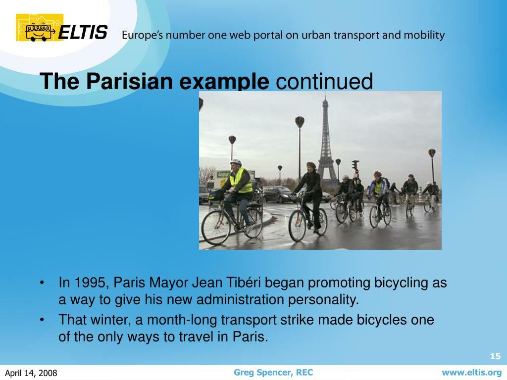 In 1995, Paris