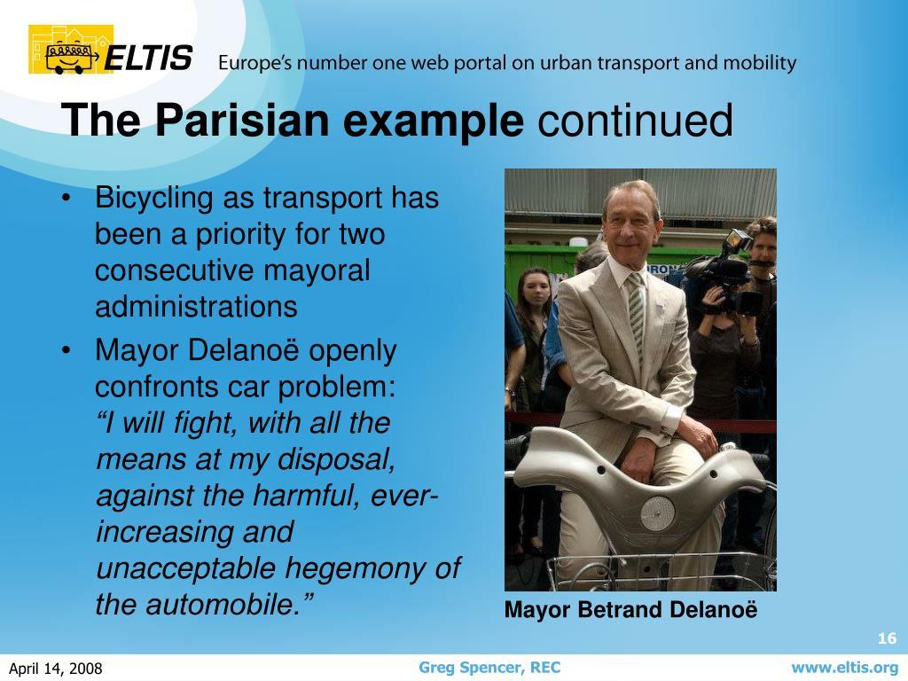 The Parisian example
