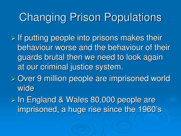 Changing Prison Populations