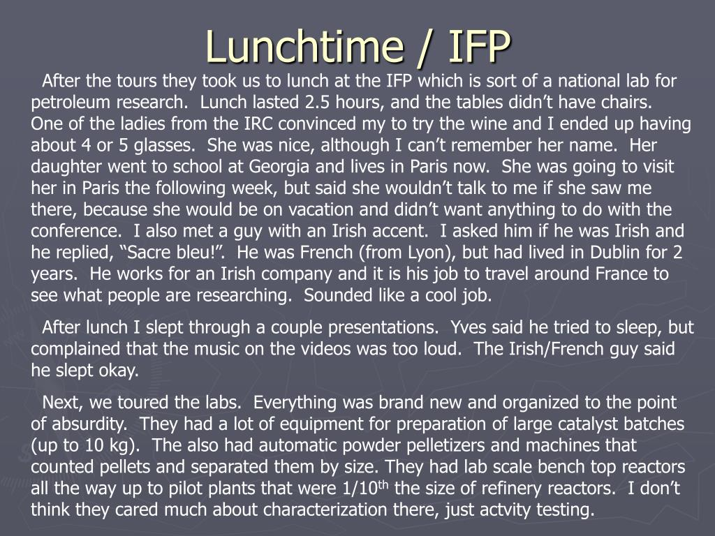 Lunchtime / IFP