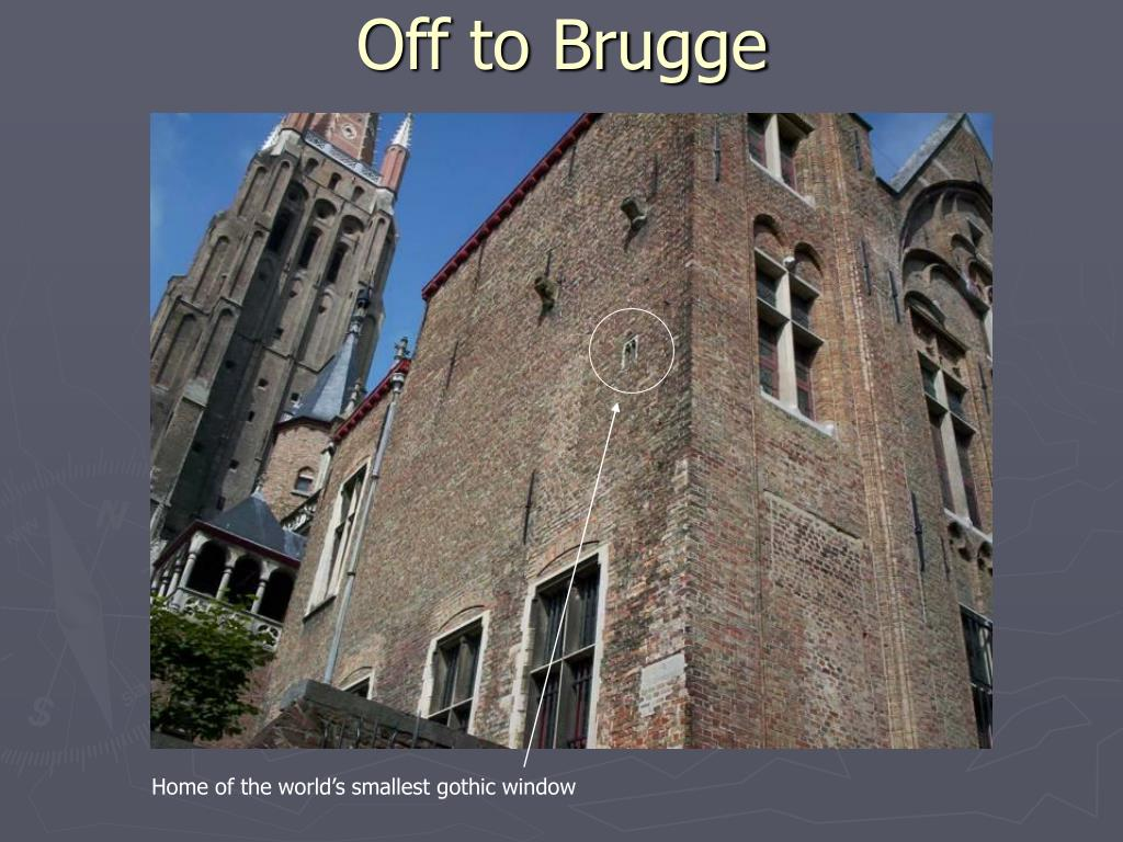 Off to Brugge