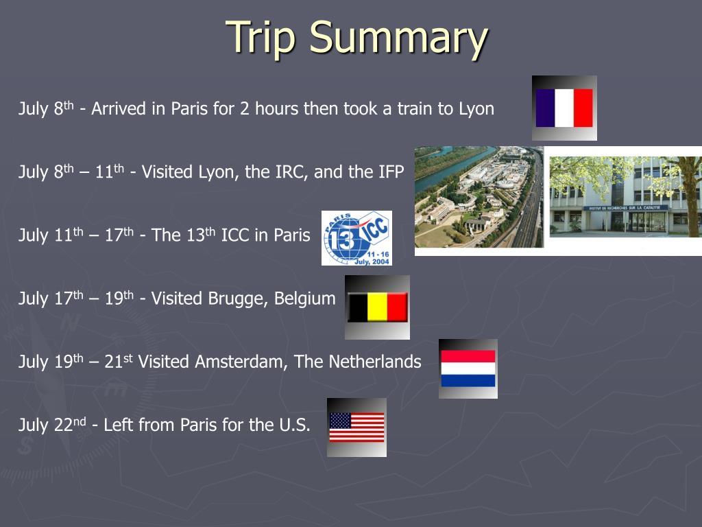 Trip Summary