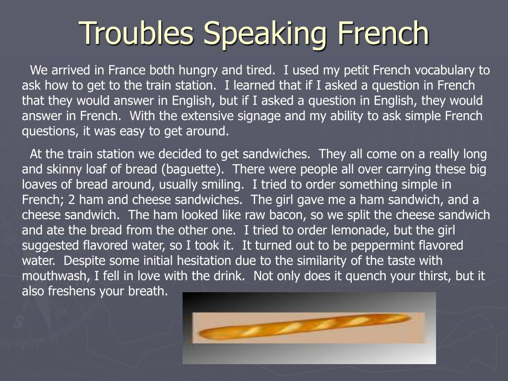 Troubles Speaking French