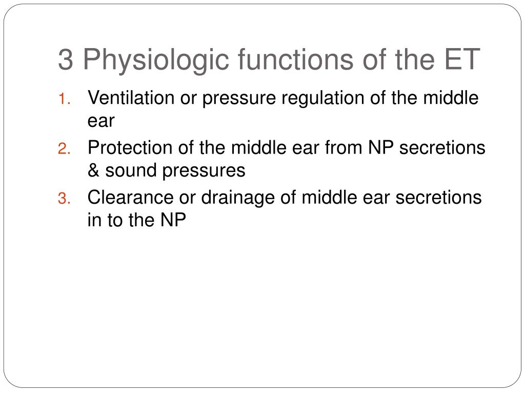 3 Physiologic functions of the ET