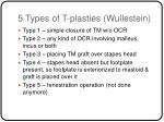 5 types of t plasties wullestein