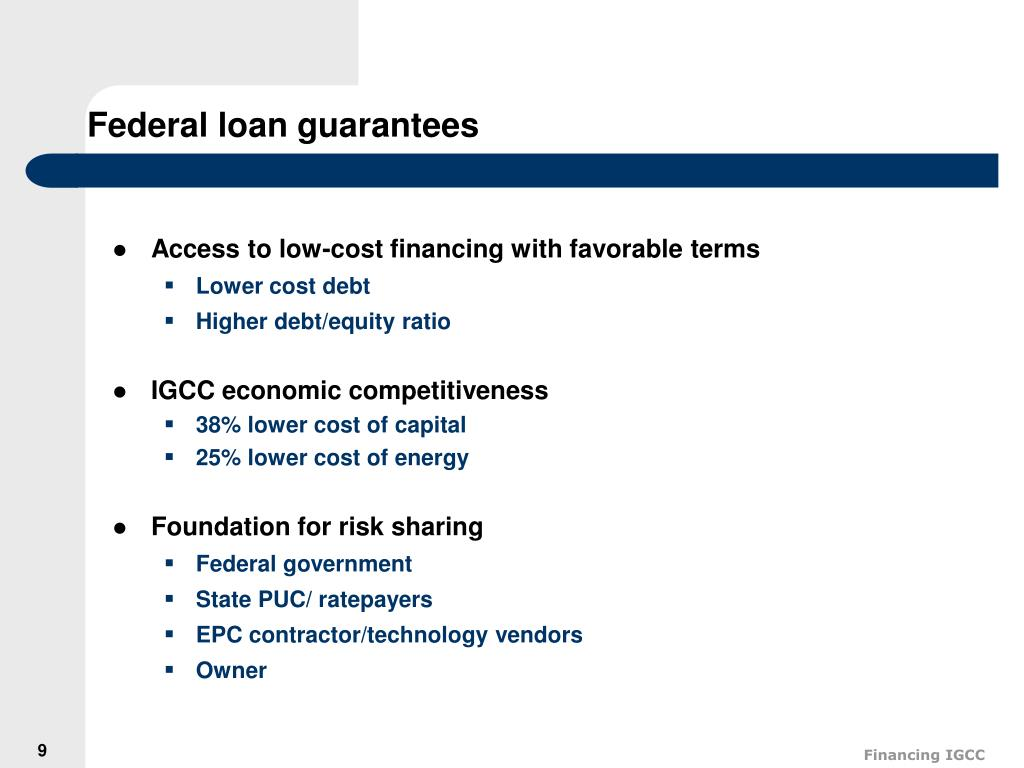 Federal loan guarantees