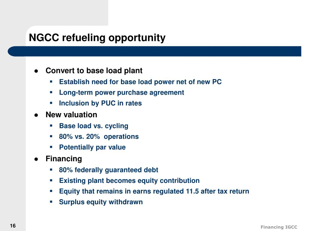 NGCC refueling opportunity