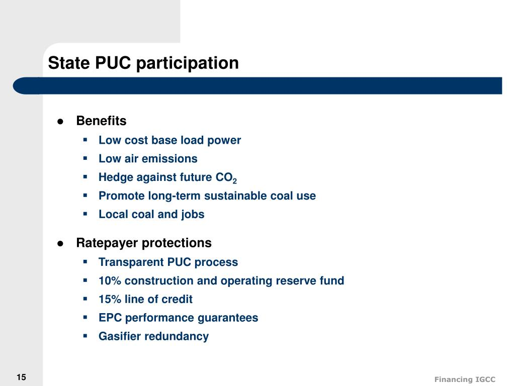 State PUC participation