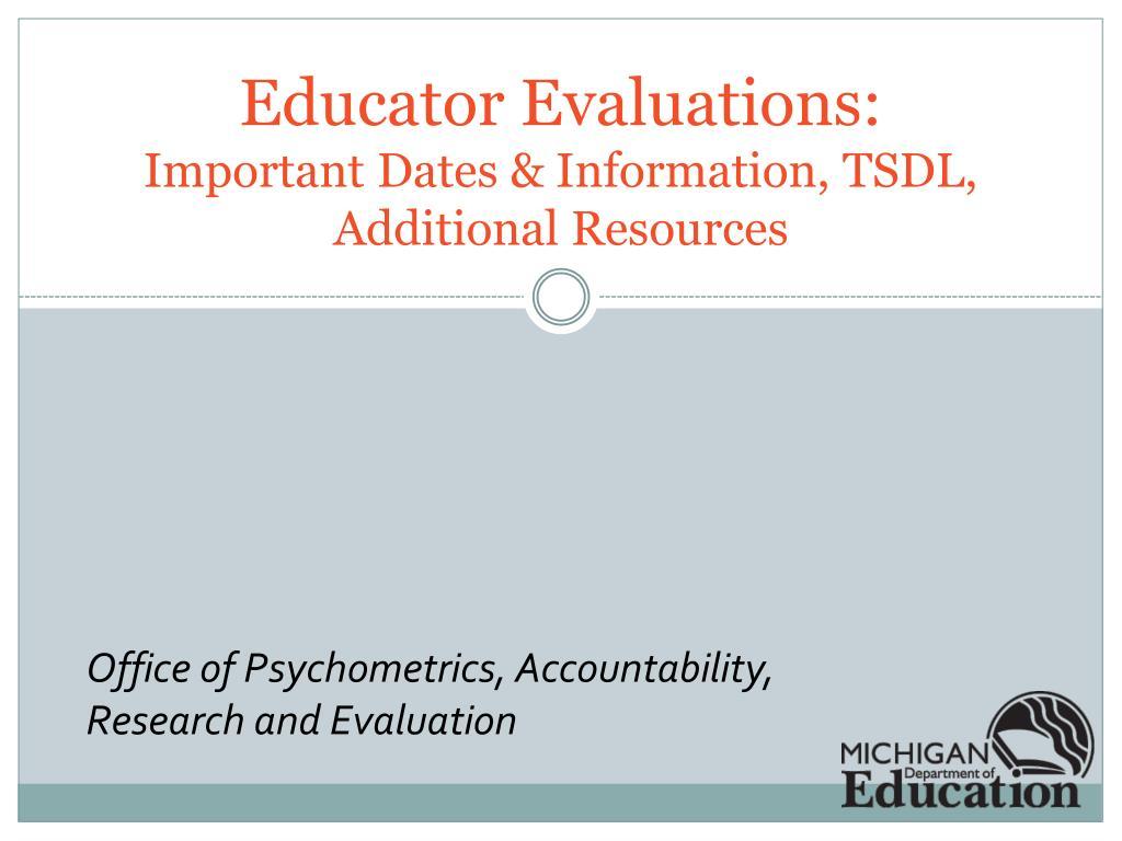 Educator Evaluations:
