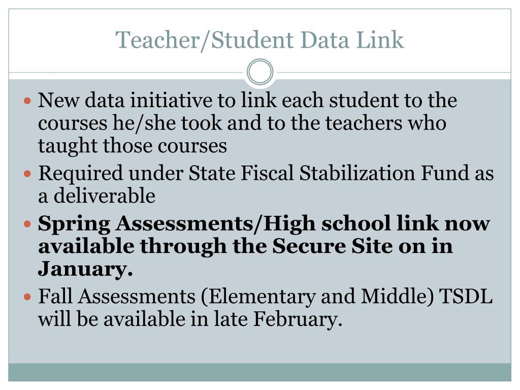 Teacher/Student Data Link