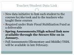 teacher student data link