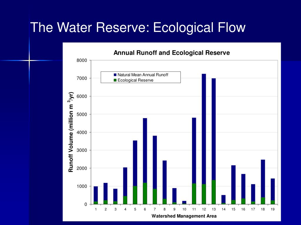 The Water Reserve: Ecological Flow