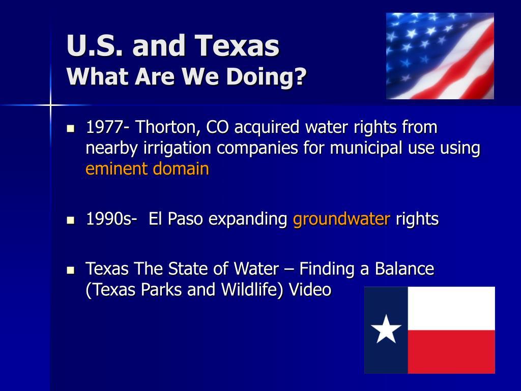 U.S. and Texas