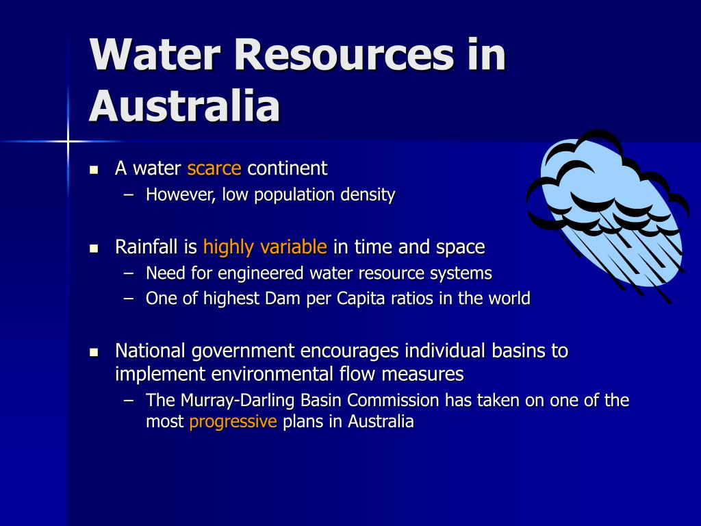 Water Resources in Australia