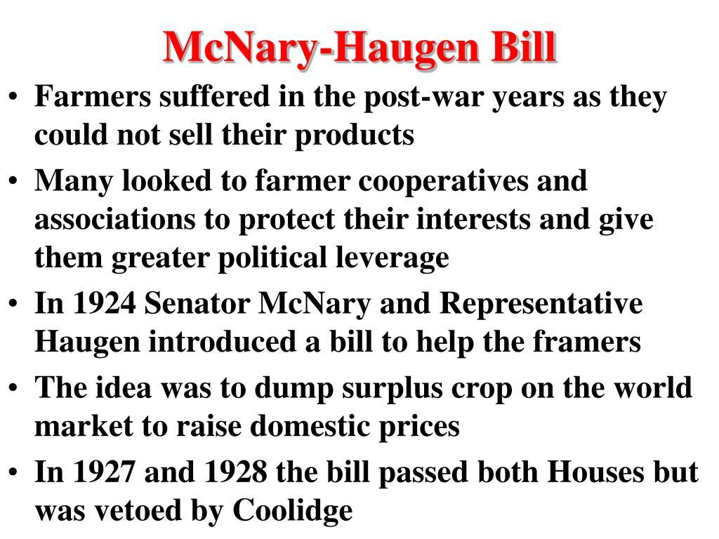 McNary-Haugen Bill