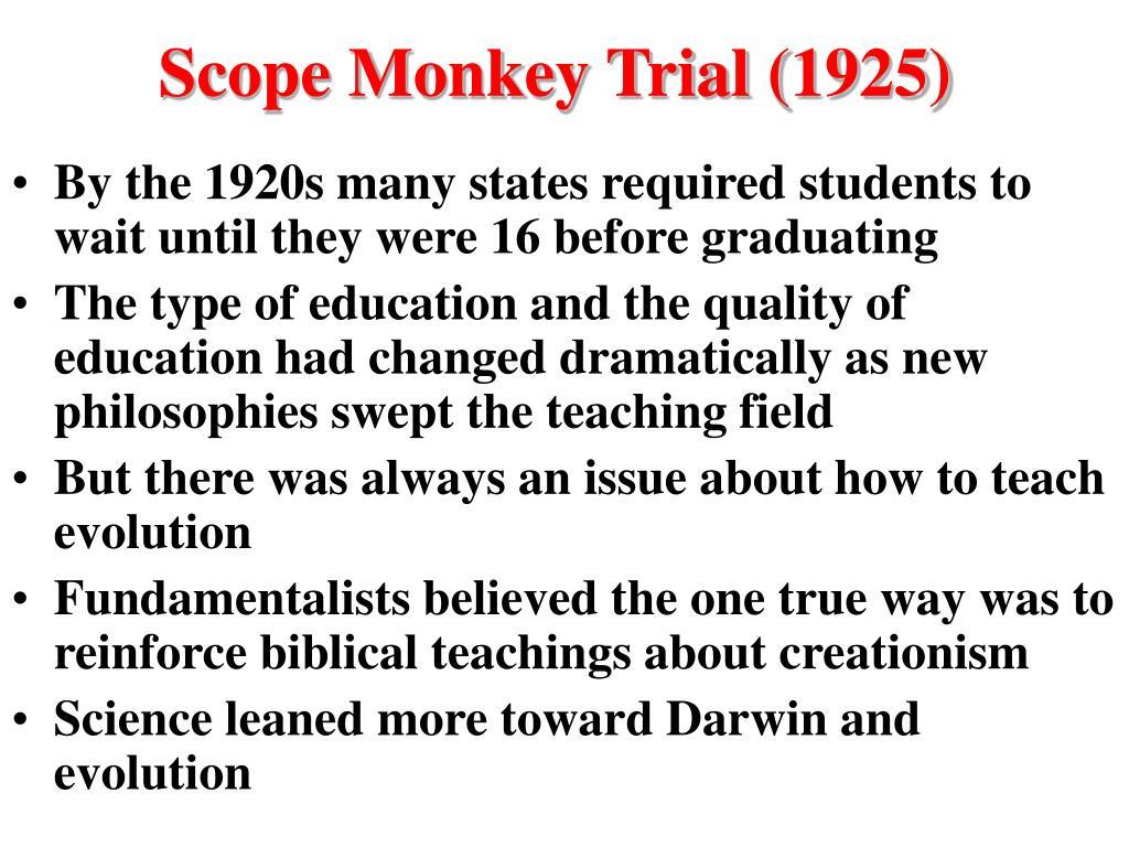 Scope Monkey Trial (1925)