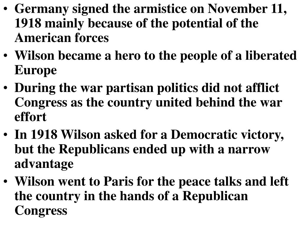 Germany signed the armistice on November 11, 1918 mainly because of the potential of the American forces