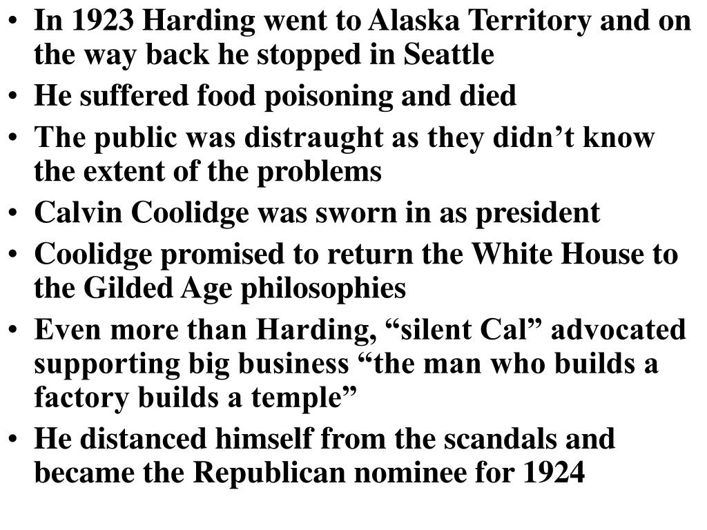 In 1923 Harding went to Alaska Territory and on the way back he stopped in Seattle