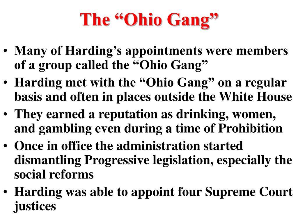 "The ""Ohio Gang"""
