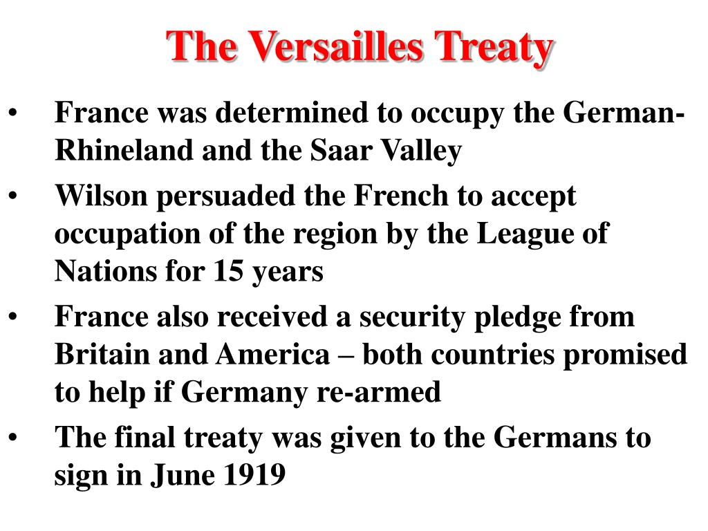 The Versailles Treaty