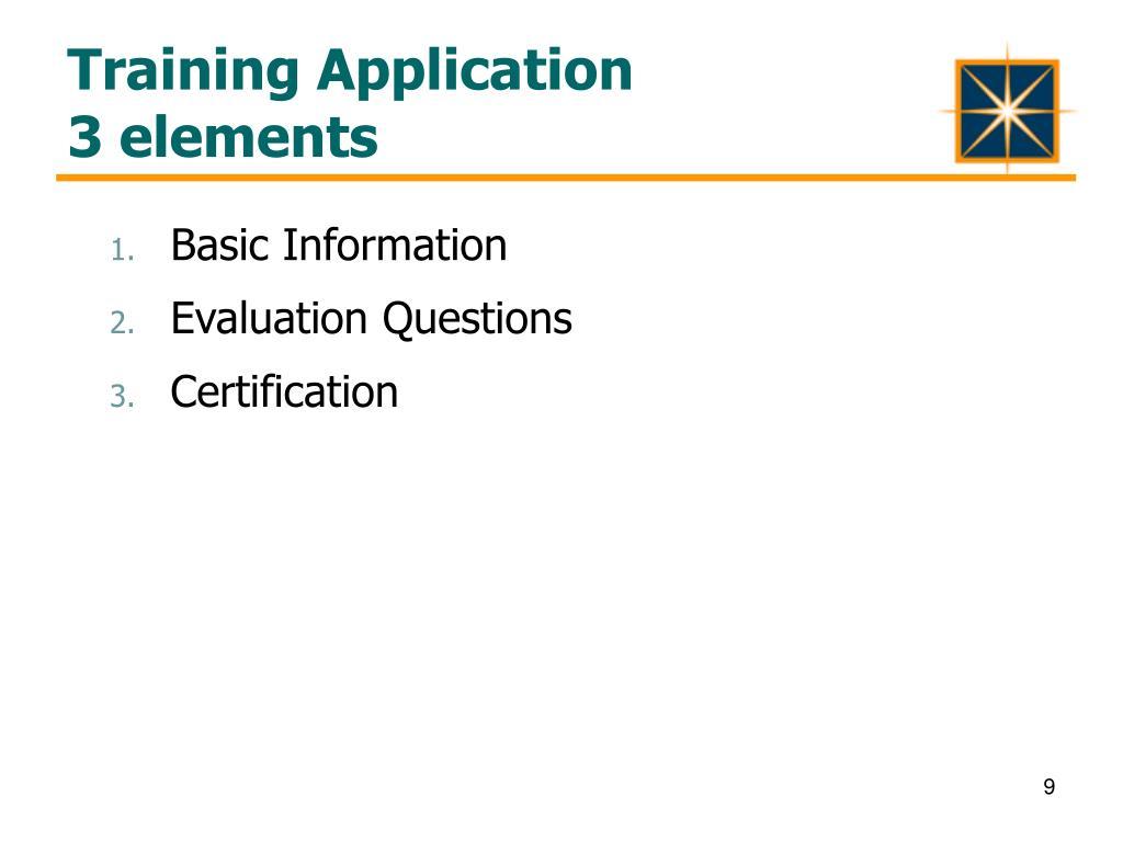 Training Application