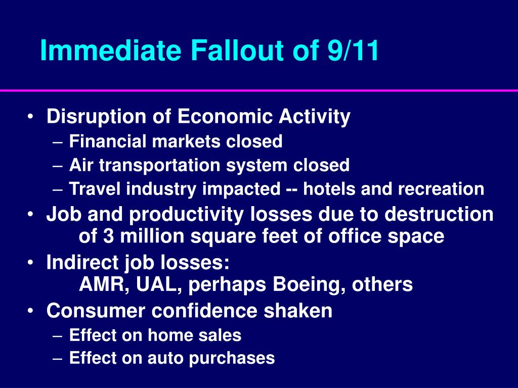 Immediate Fallout of 9/11