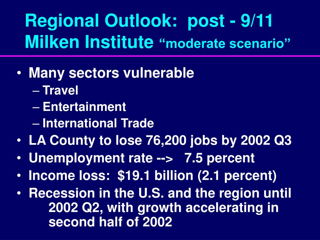Regional Outlook:  post - 9/11