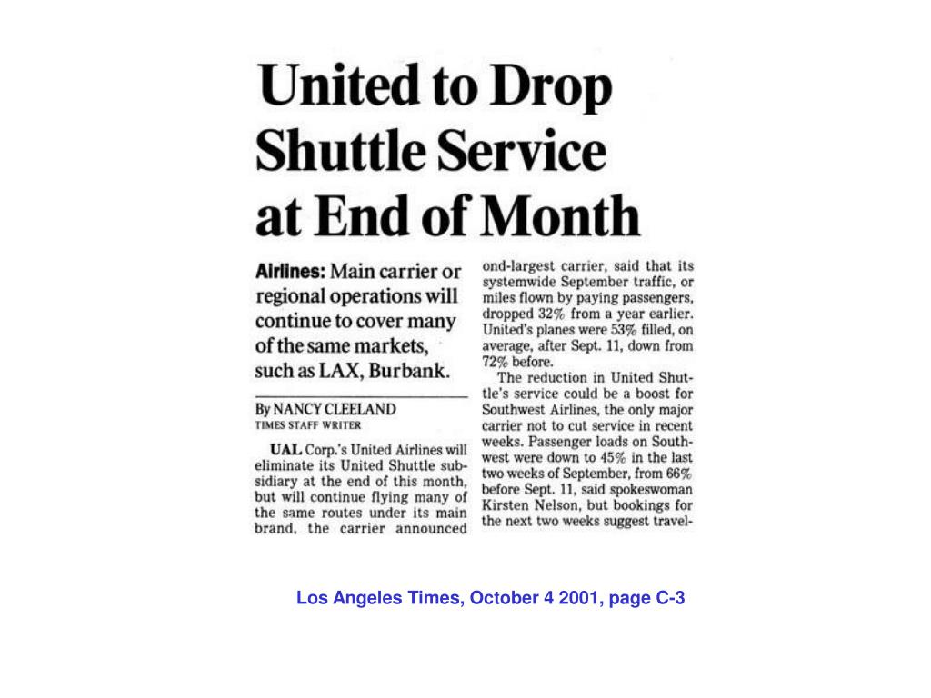 Los Angeles Times, October 4 2001, page C-3