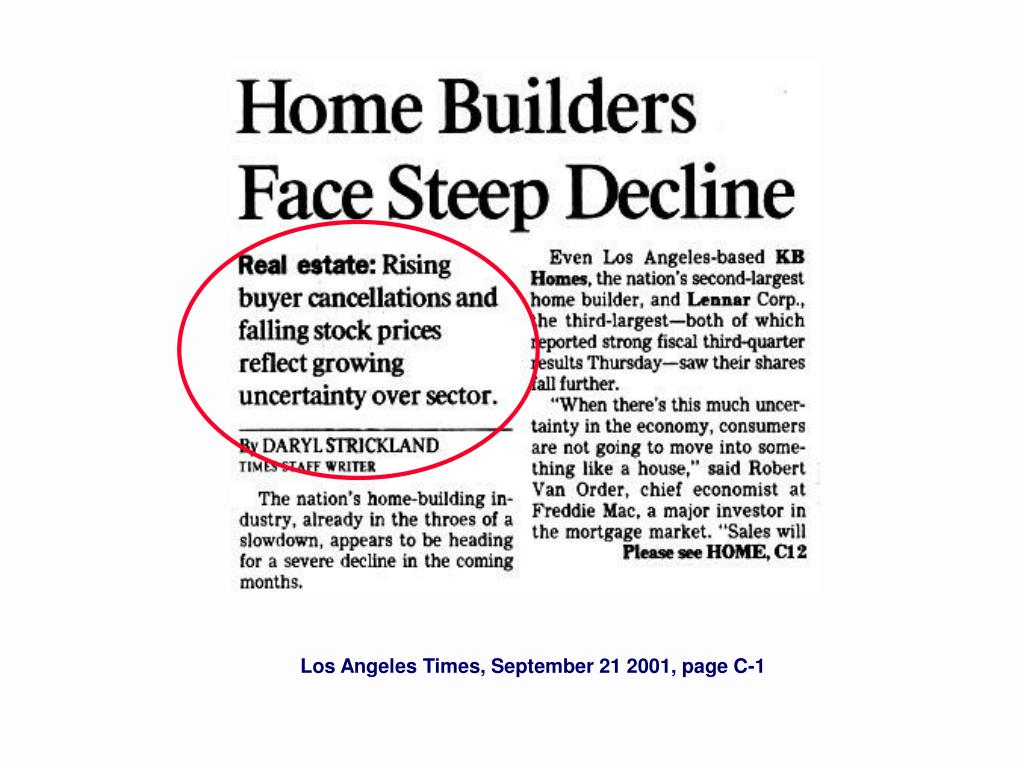 Los Angeles Times, September 21 2001, page C-1