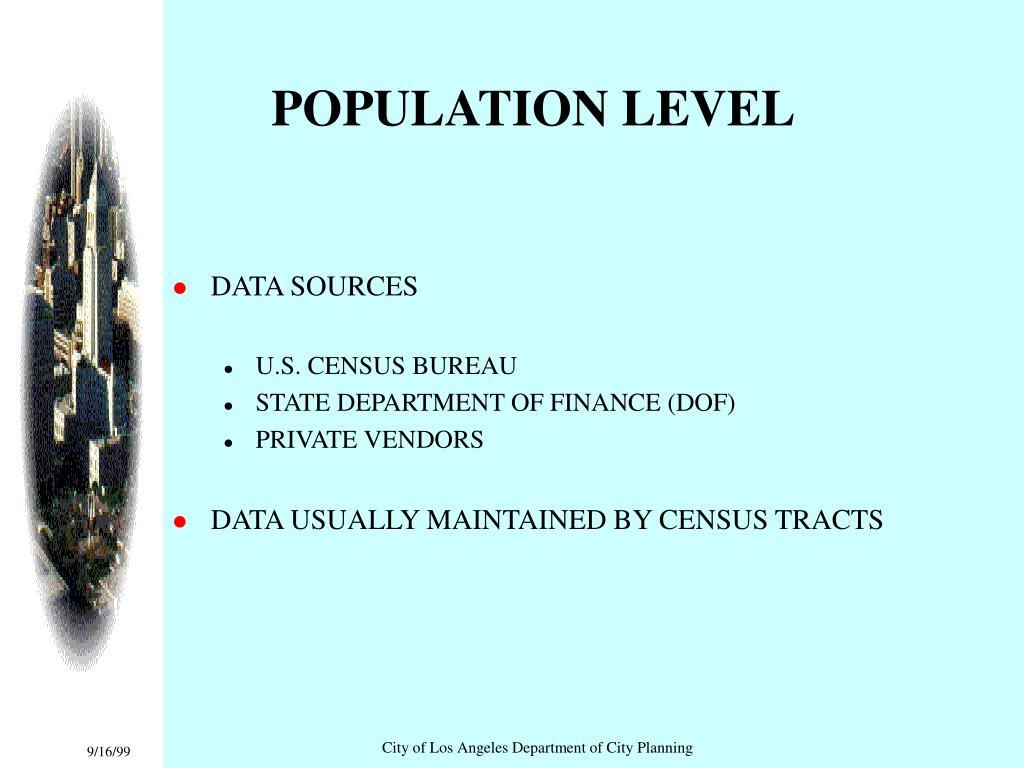 POPULATION LEVEL
