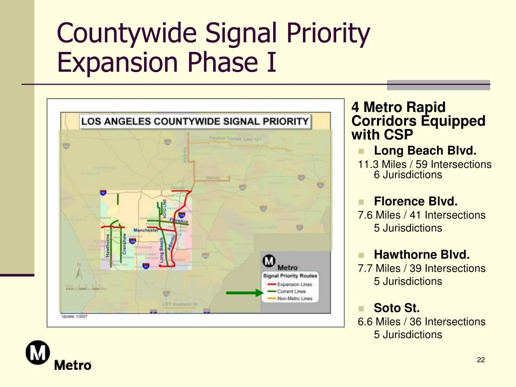 Countywide Signal Priority Expansion Phase I
