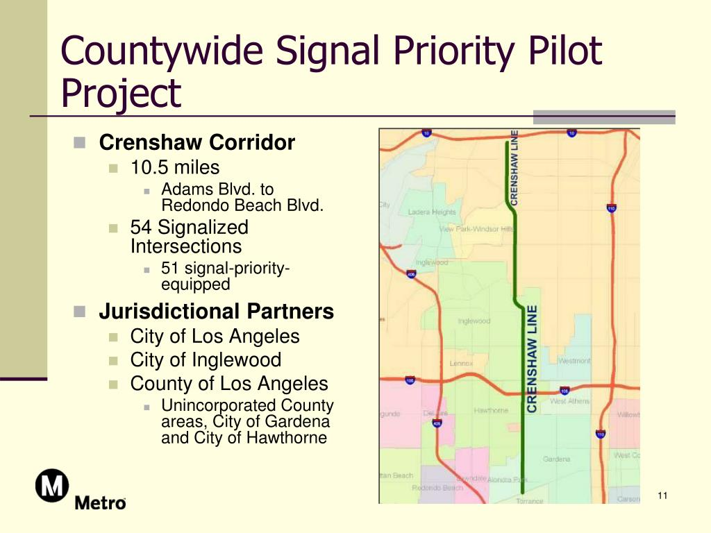 Countywide Signal Priority Pilot Project