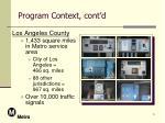 program context cont d