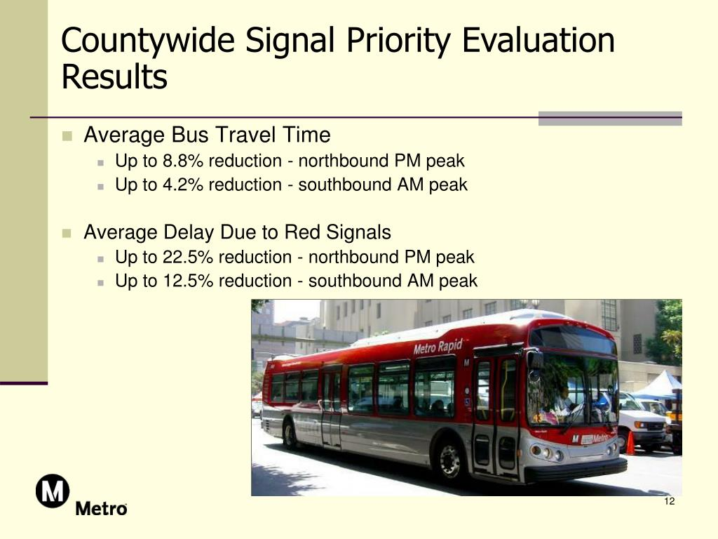Countywide Signal Priority Evaluation Results