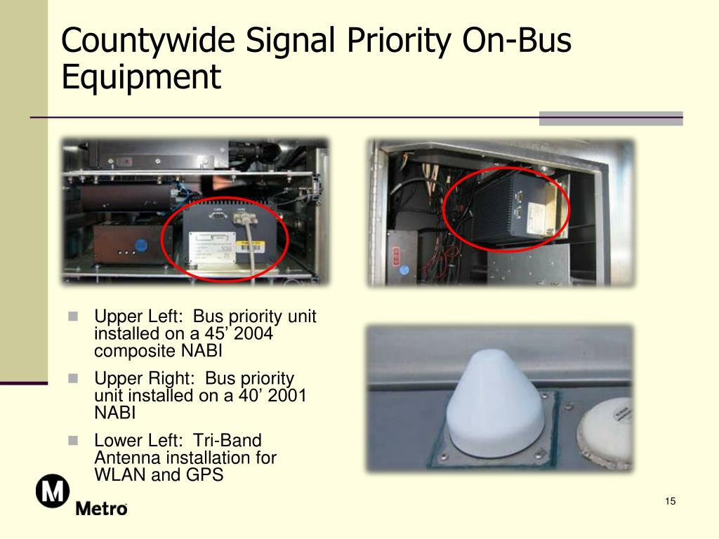Countywide Signal Priority On-Bus Equipment
