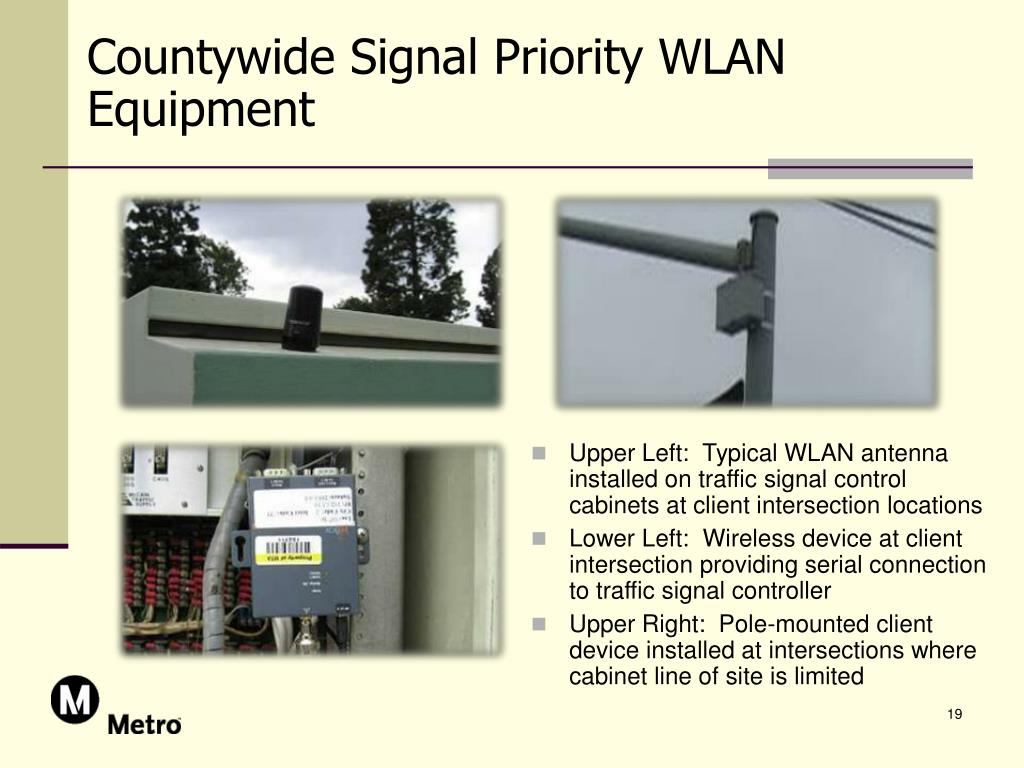 Countywide Signal Priority WLAN Equipment