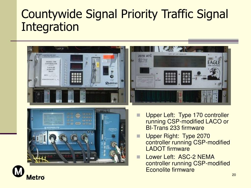 Countywide Signal Priority Traffic Signal Integration