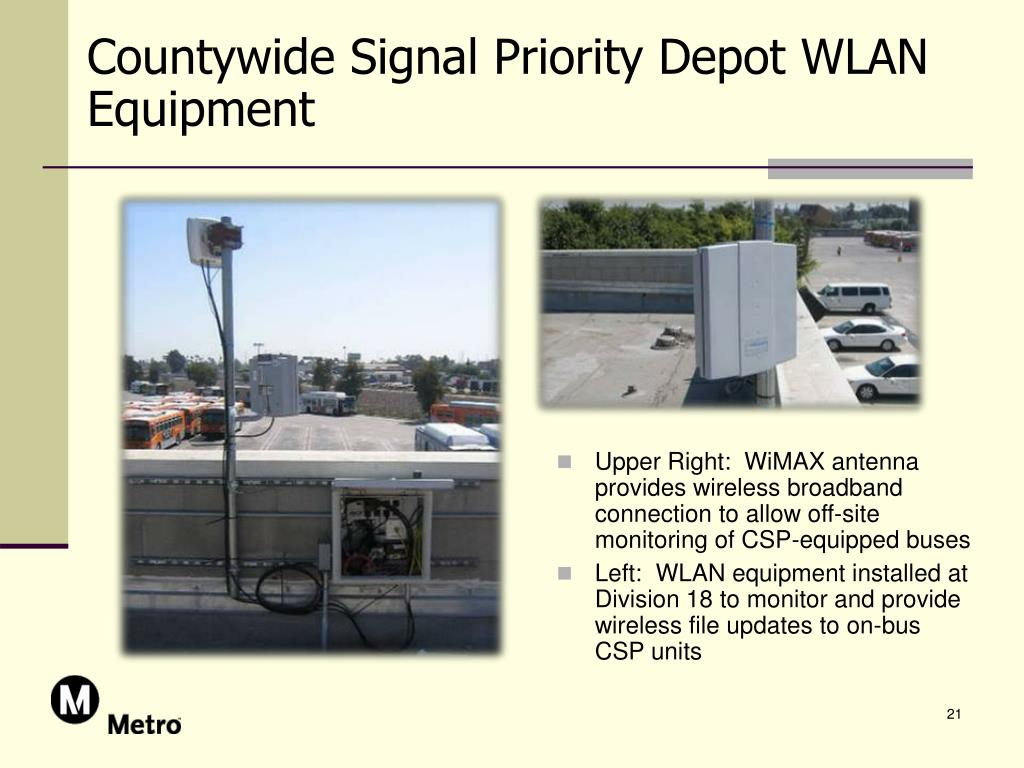 Countywide Signal Priority Depot WLAN Equipment