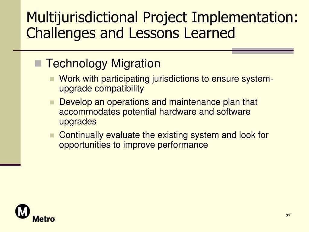 Multijurisdictional Project Implementation: